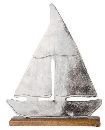 Alu Schiff auf Base 32x5x40 cm