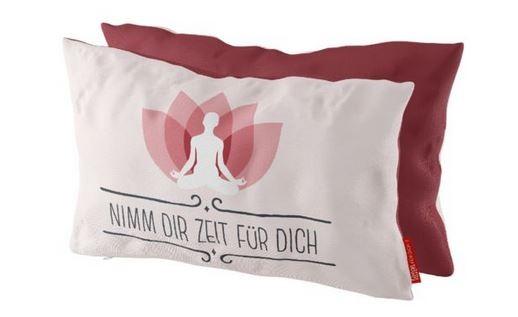 Kissen Nimm Dir Zeit 25x40 cm