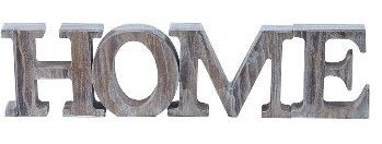 Holz Buchstaben Home sand 8 cm