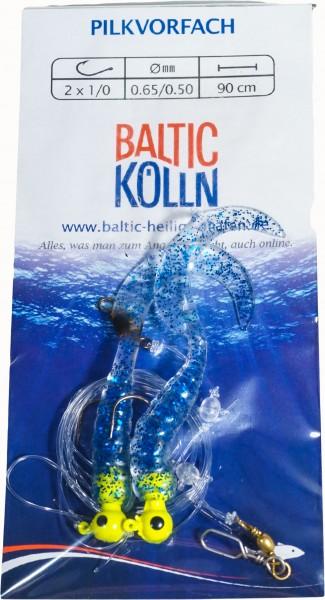 Baltic Rotations-Pilkvorfach, 2 Beifänger cristall blauer Glitter