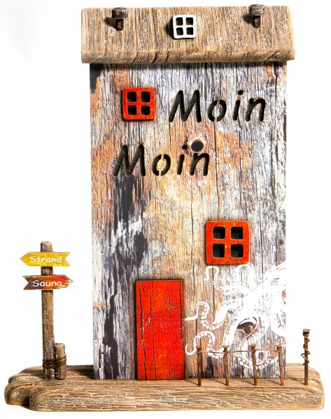 Holz-Lichthaus Shabby natur - Moin Moin
