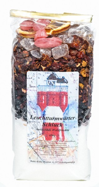 "Ansatzlikör Leuchtturmwärter Schluck"" Waldfrüchte 450g"""
