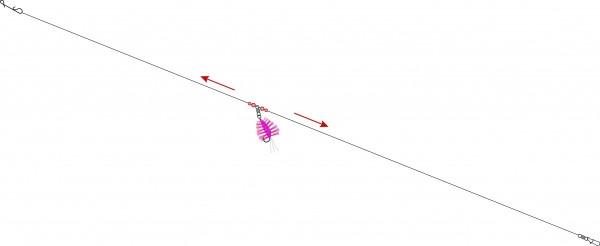 Dorschfliegen System -durchlauf- Farbe: pink