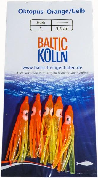 Baltic Octopus Ersatzkörper 4cm orange/gelb 5 Stck. SB