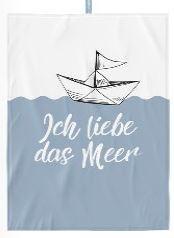 Geschirrtuch Liebe Meer 50x70