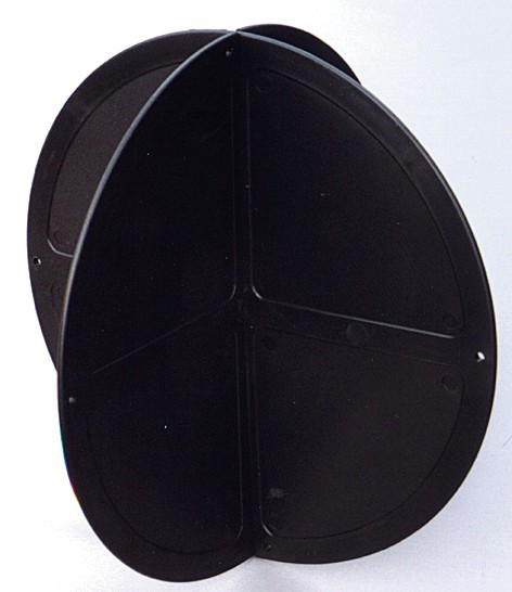 Ankerball schwarz Kunststoff
