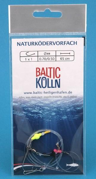 """Baltic Nachläufer"""" Brandungsvorfach 1 Haken Auftriebsperle gelb"""""""