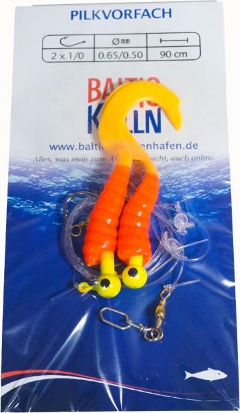 Baltic Rotations-Pilkvorfach, 2 Beifänger rot-orange