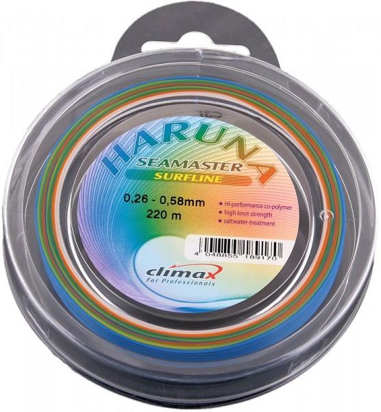 Climax Surf-Line(Keulenschnur) 220m 4-farbig auf 0,58mm verstärkt