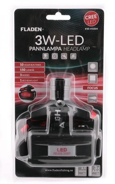 Kopflampe mit Cree LED 3Watt mit Rücklicht