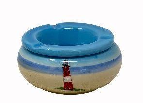Keramik Windaschenbecher Leuchtturm 11,5x5
