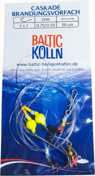 """Baltic Holstein"""" Brandungsvorfach 2 Haken Auftriebsperlen gelb"""""""