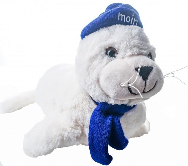 Plüsch-Seehund Flapsch Pudelmützte Moin 35cm