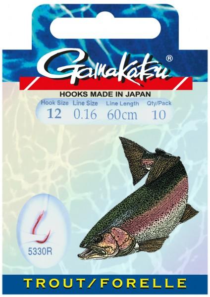 Gamakatsu Haken BKS-5330R Forelle 60 cm 10 Stk SB
