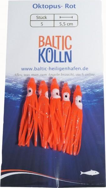 Baltic Octopus Ersatzkörper 4cm braun-dunkelrot 5 Stck. SB