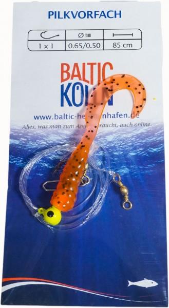 Baltic Rotations-Pilkvorfach, 1 Beifänger orange glitter