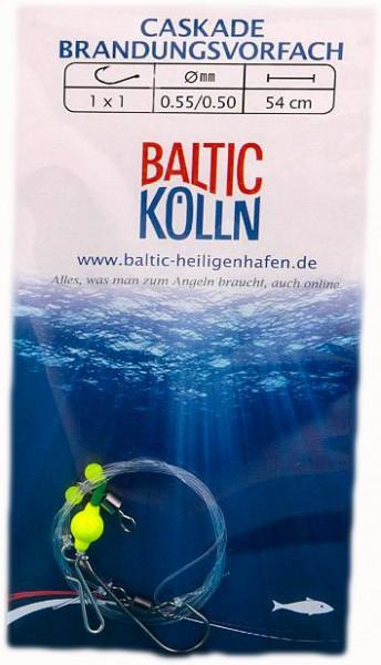 """Baltic Lift"""" Brandungsvorfach 1 Haken Auftriebsperle gelb"""""""