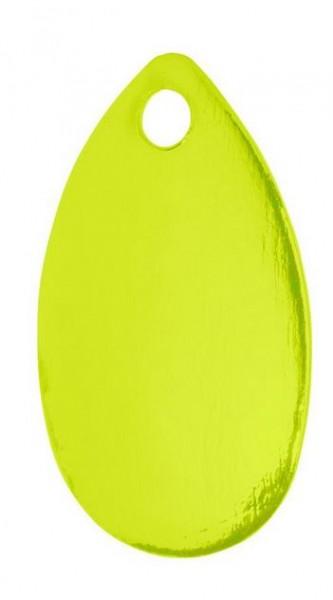 Spinnerblätter,Buttlöffel mit Ösen,fluo-gelb,5 Stk SB,Länge 2,2cm