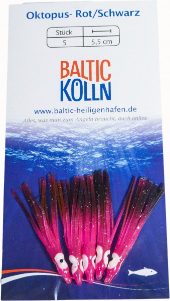 Baltic Octopus Ersatzkörper 4cm pink/schwarz 5 Stck. SB